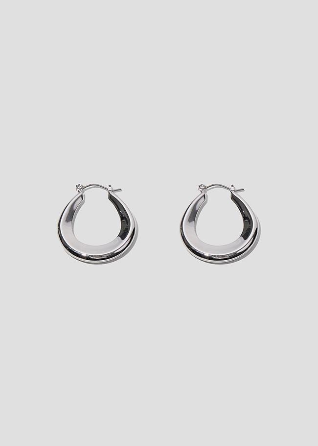 Basic Metallic Latch Hoop Earrings