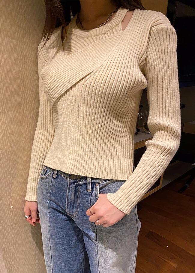 Layered Knit Top Set