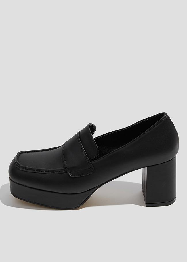 Heeled Platform Loafers