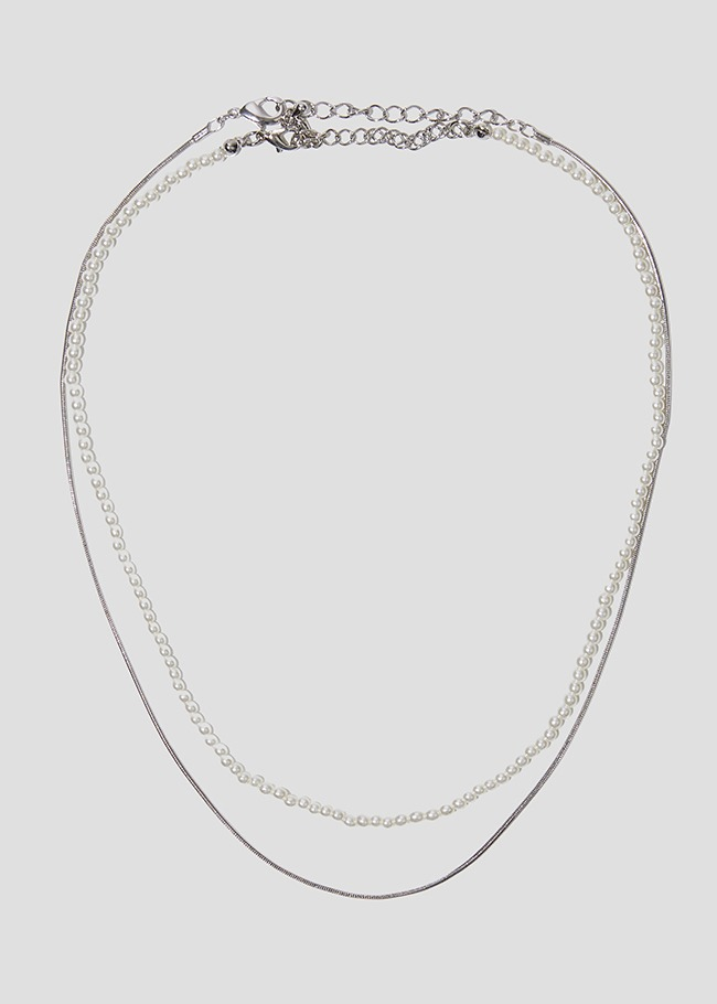 Layered Faux Pearl Necklace Set