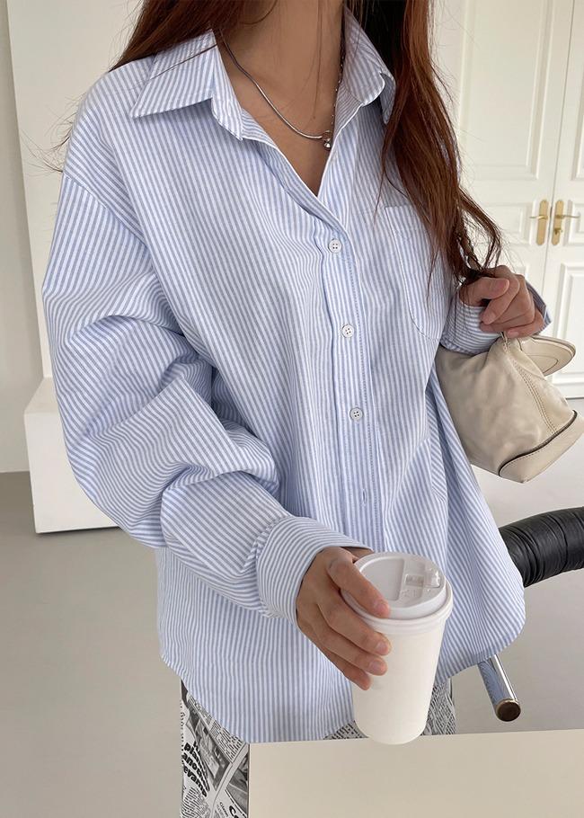 Button-Up Stripe Shirt