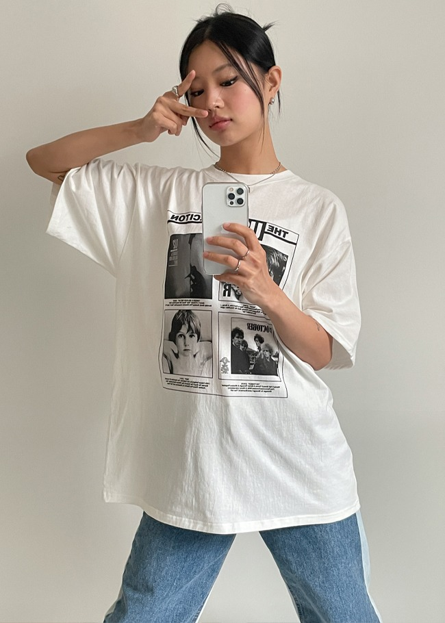 Band Collection Printed Loose Fit T-Shirt
