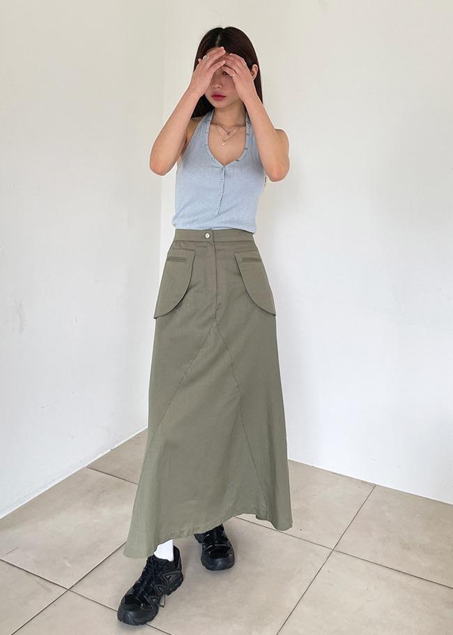 Pocket High Waist Skirt