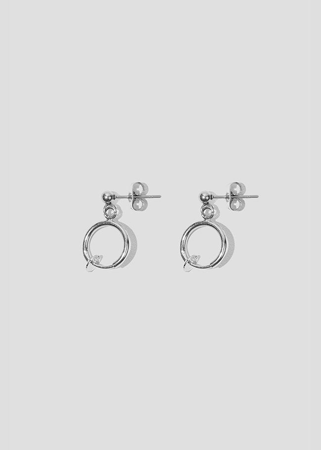 Hoop Drop Ring Earrings