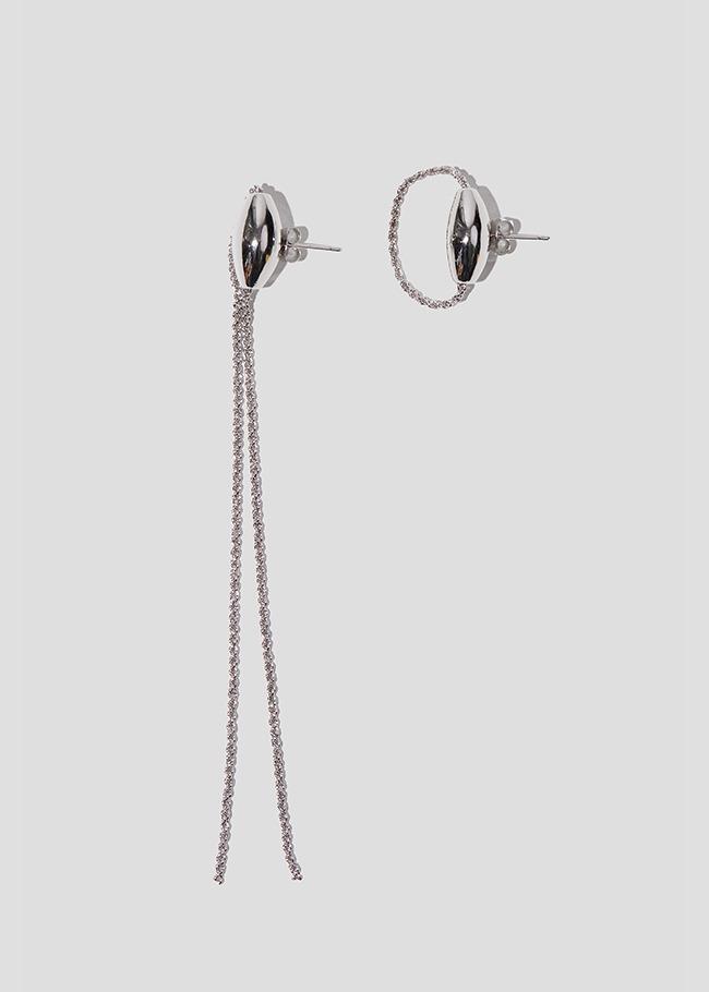 Asymmetrical Chain Accent Earrings