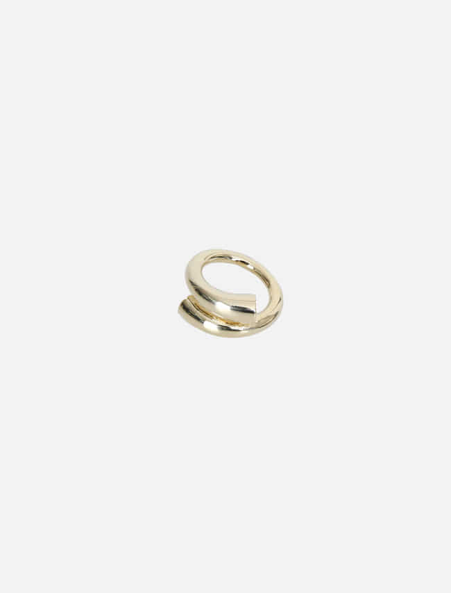 Gold-Tone Cylinder Twist Ring