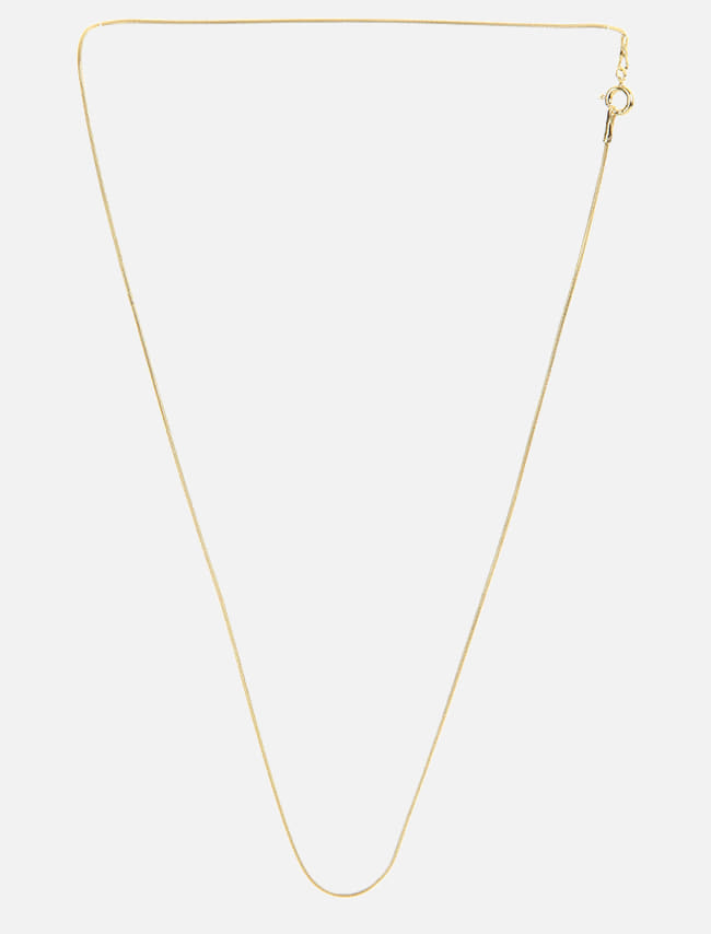 Gold-Tone Slim Rope Chain Necklace