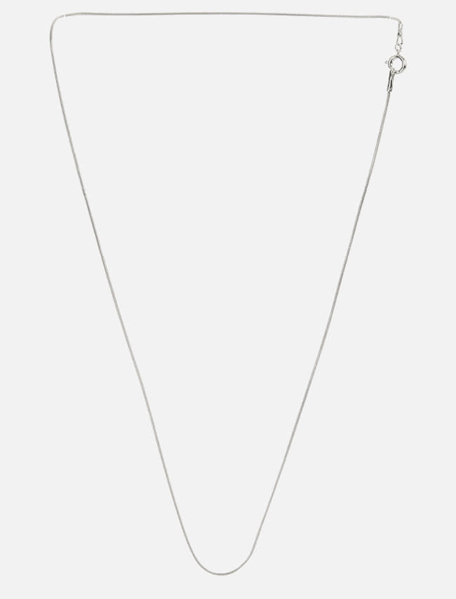 Silver-Tone Slim Rope Chain Necklace