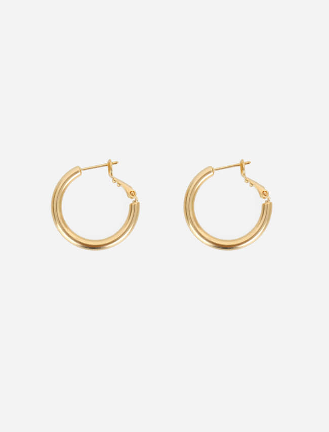 Push Back Hinge Hoop Earrings