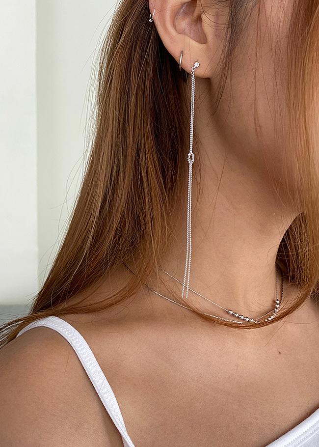 Metallic Long Chain Drop Earrings