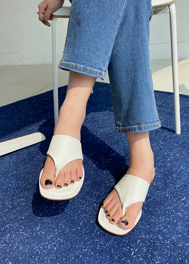 Low Heel Thong Sandals
