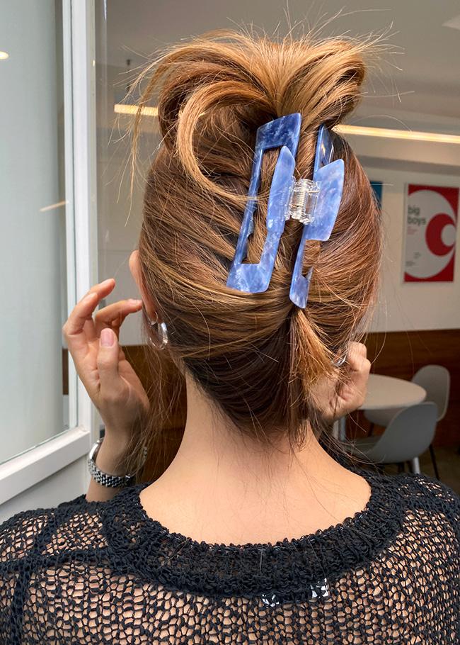 Blue Sky Hair Claw Clip