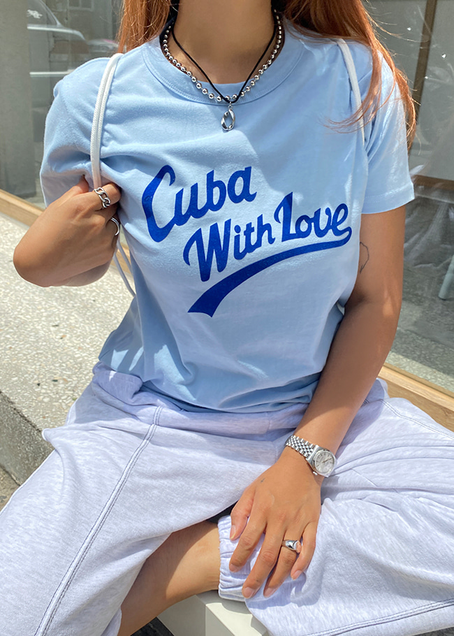 Cuba With Love Printed T-Shirt