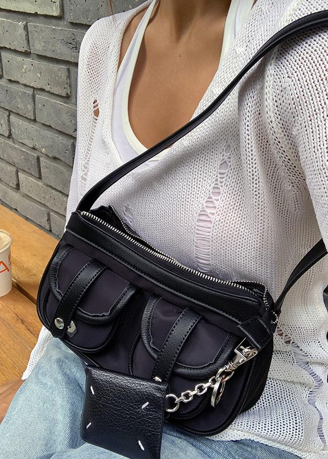 Double Pocket Shoulder Bag