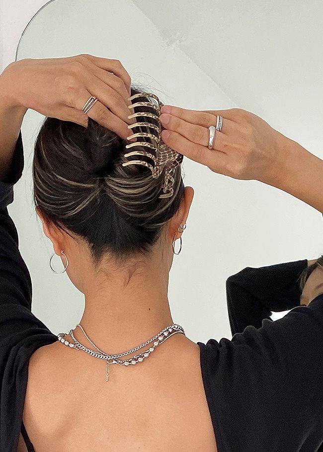 Animal Print Hair Clip