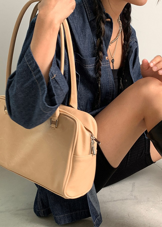 Zipper Top Shoulder Bag