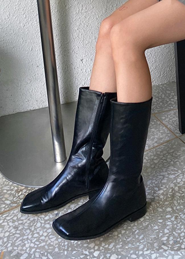 Square Toe Calf Boots