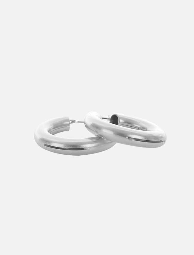 簡約中空線條圓圈耳環