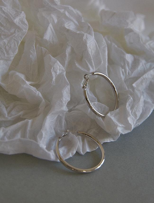 時尚個性風金屬圓圈耳環