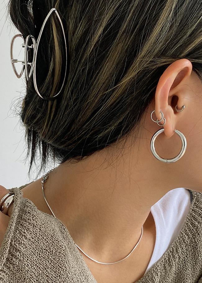 經典時尚風金屬圓圈耳環