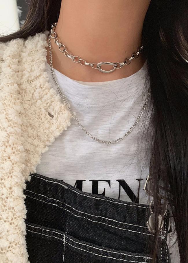 簡約時尚系橢圓圈項鍊