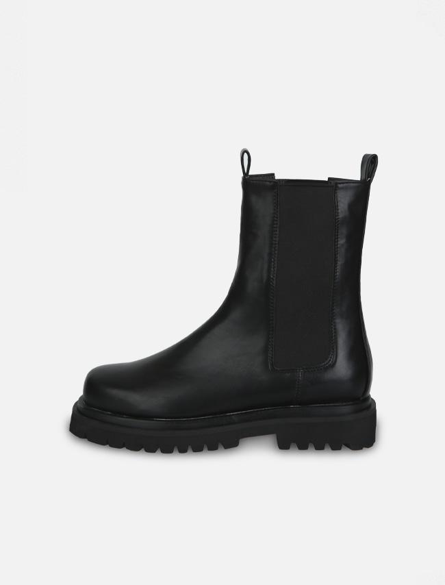 DARKVICTORY簡約色系厚底皮革切爾西靴