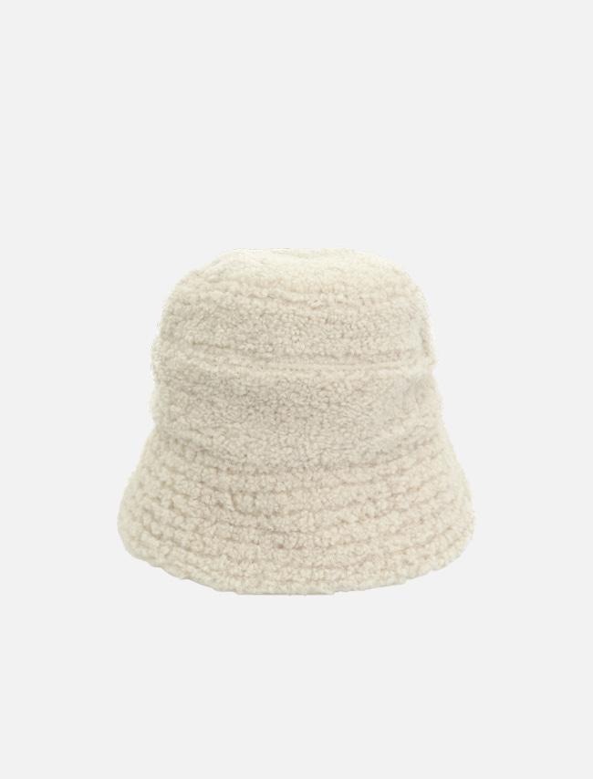 DARKVICTORY暖心絨毛感純色漁夫帽