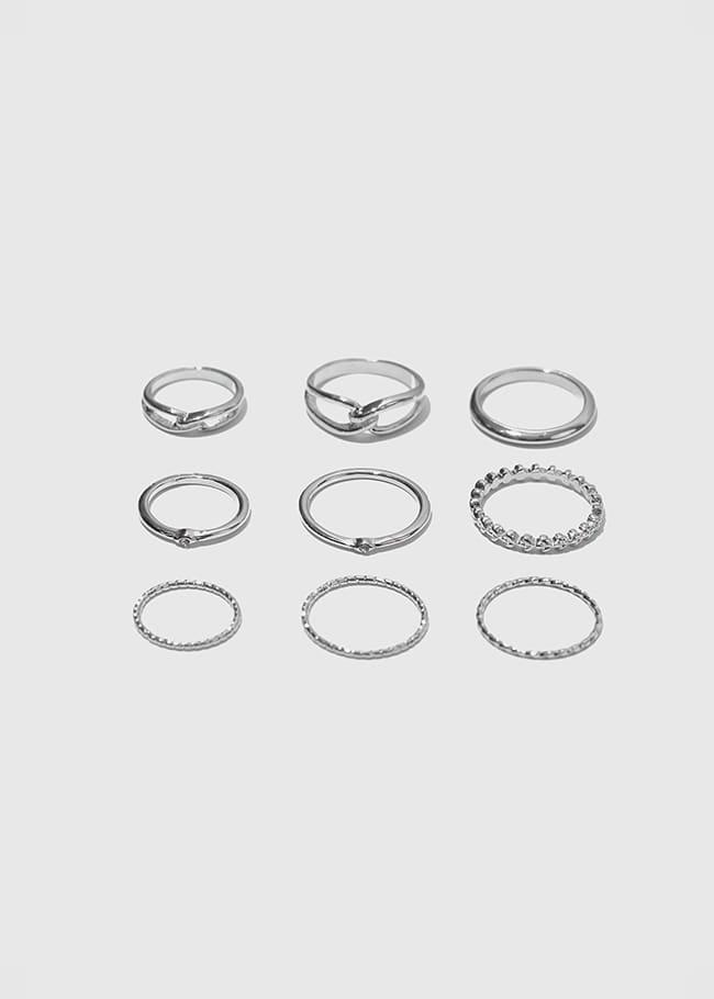 DARKVICTORY[套裝]時尚多風格九入戒指組