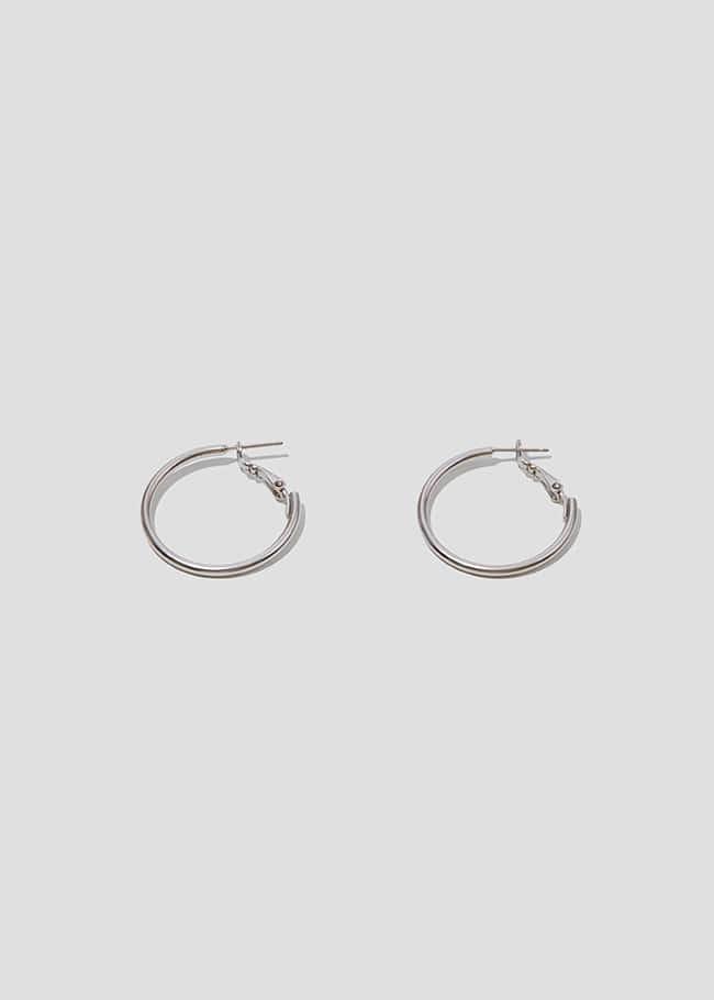 DARKVICTORY簡練易釦式金屬圓圈耳環