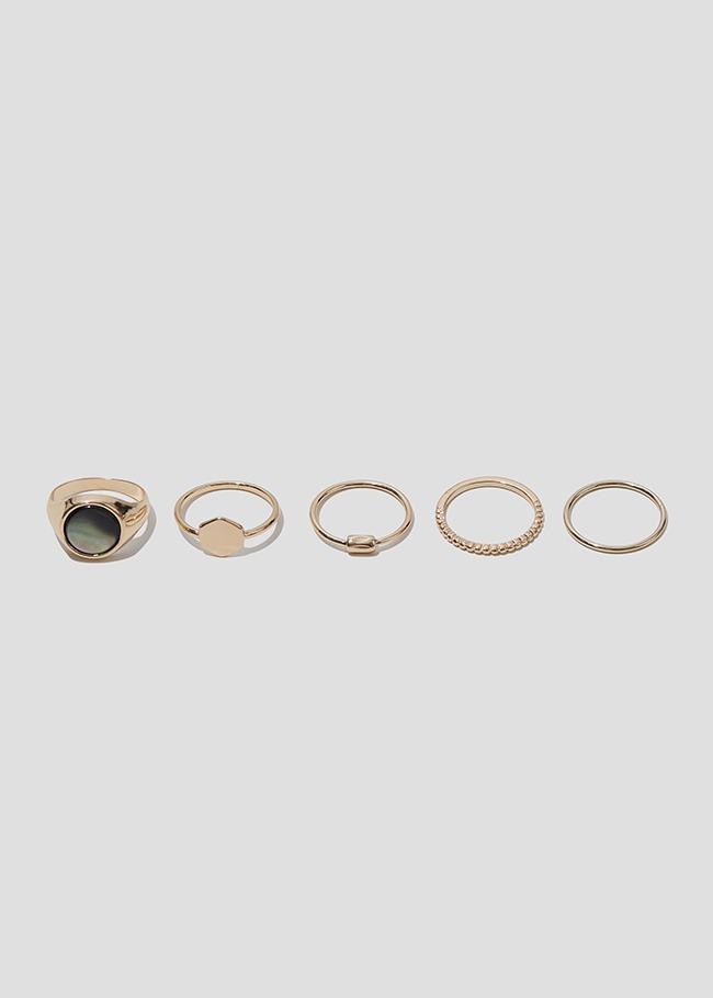 DARKVICTORY[套裝]摩登風範五入戒指組