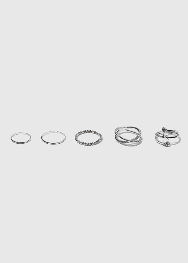 DARKVICTORY[套裝]魅力多風格五入戒指組