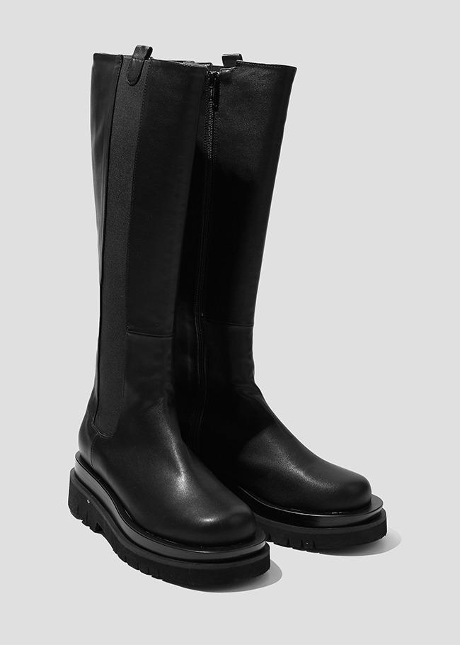 DARKVICTORY切爾西風格側拉鍊低跟長靴