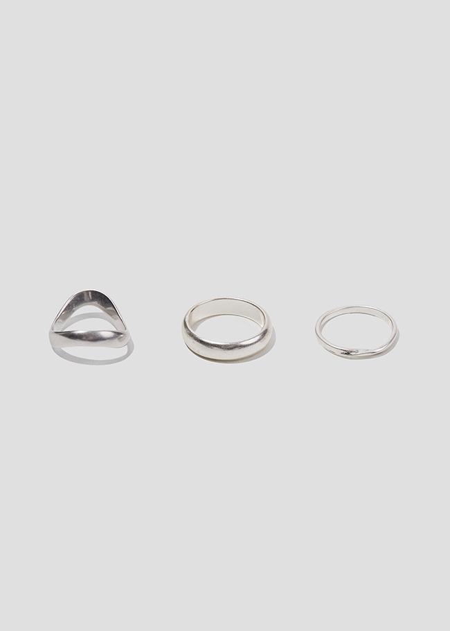 DARKVICTORY[套裝]復古風啞光三入戒指組