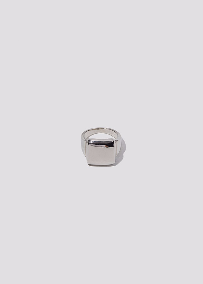 DARKVICTORY方形綴飾金屬戒指