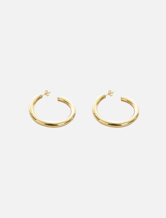 DARKVICTORY復古風潮大圓造型耳環(金色)