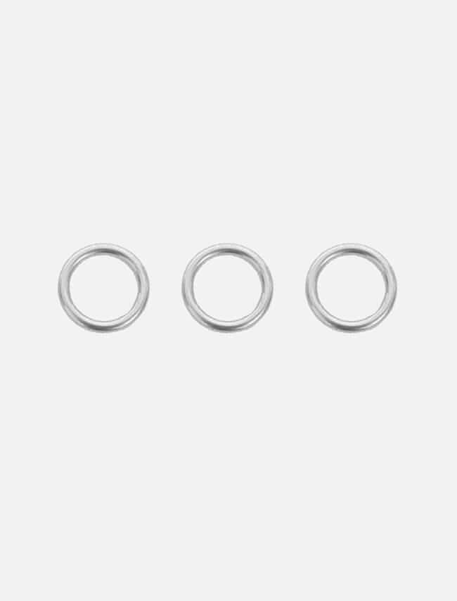 DARKVICTORY[SET] 極簡三圓環戒指套組(銀色)