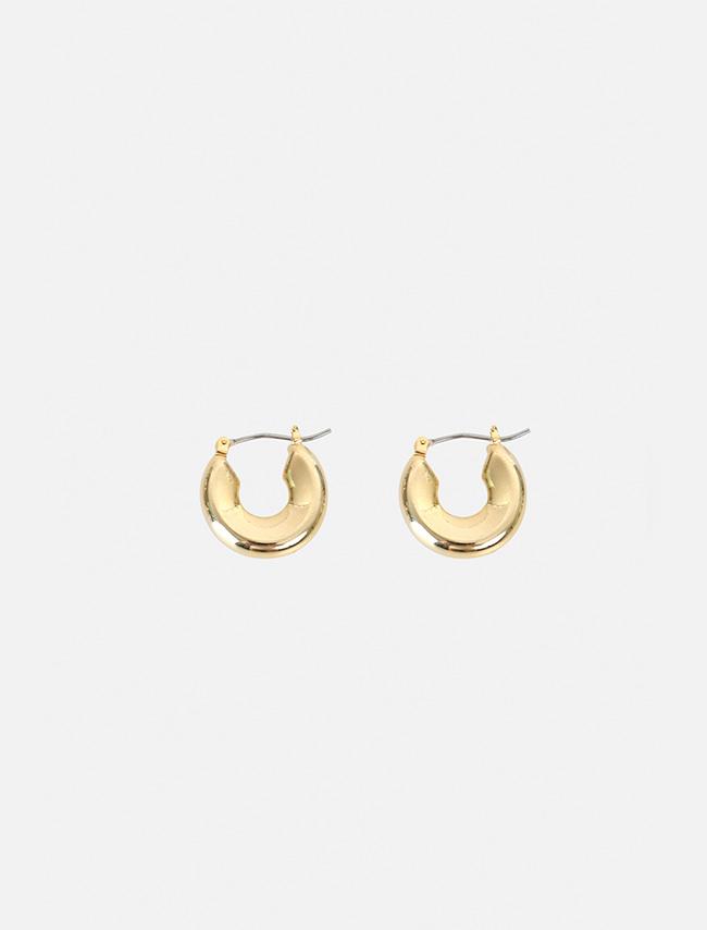 DARKVICTORY光滑表面扁圓造型耳環