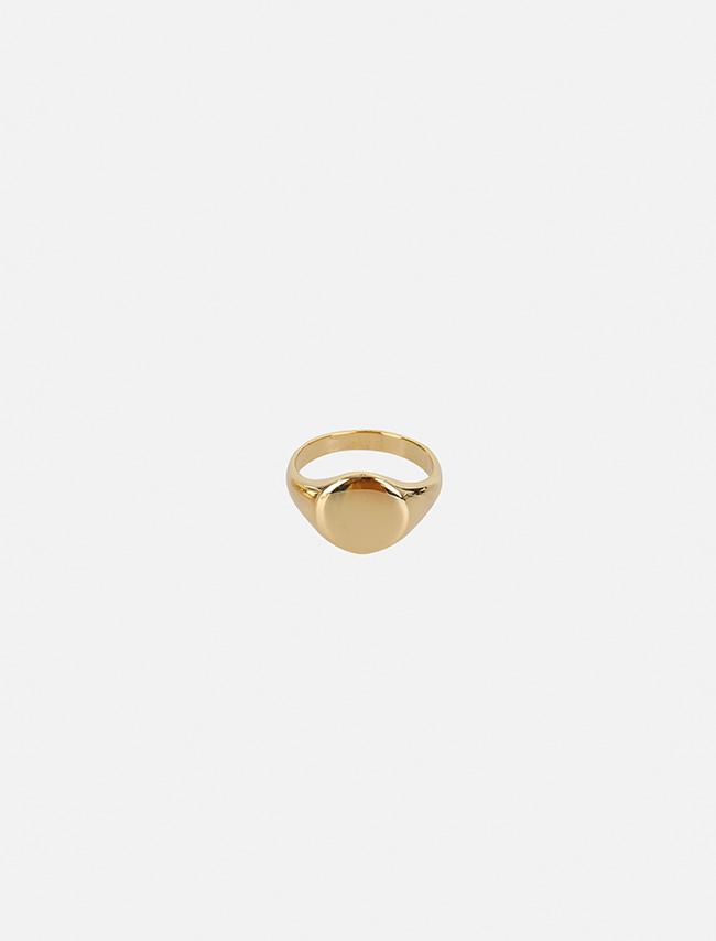 DARKVICTORY一體成形圓面金屬戒指