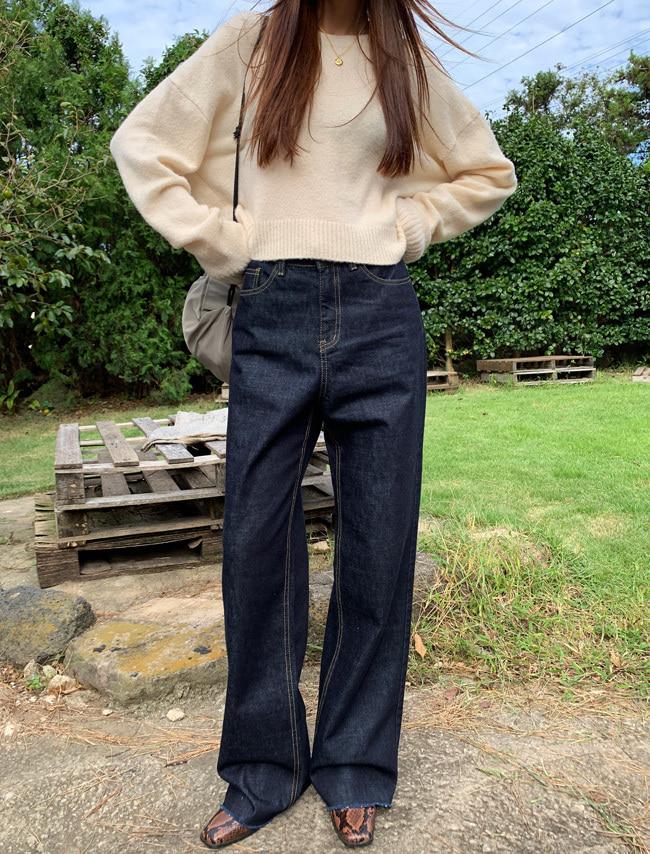DARKVICTORY直率個性直筒原色牛仔褲