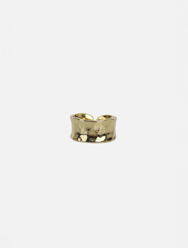 DARKVICTORY弧形凹面金屬缺口戒指