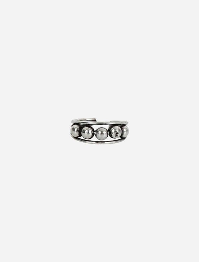 DARKVICTORY圓珠串接金屬缺口戒指