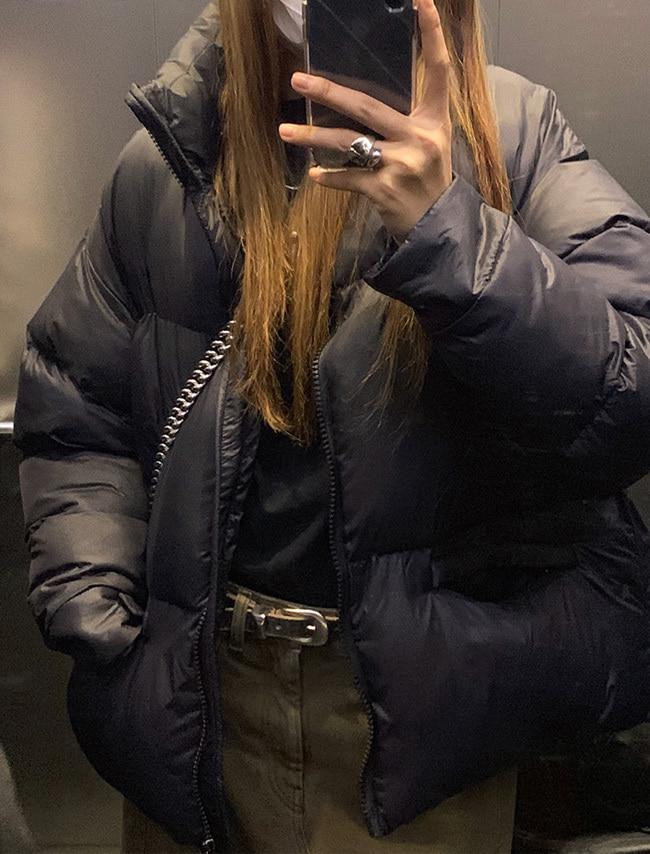 DARKVICTORY中性風格抽繩襬羽絨棉外套