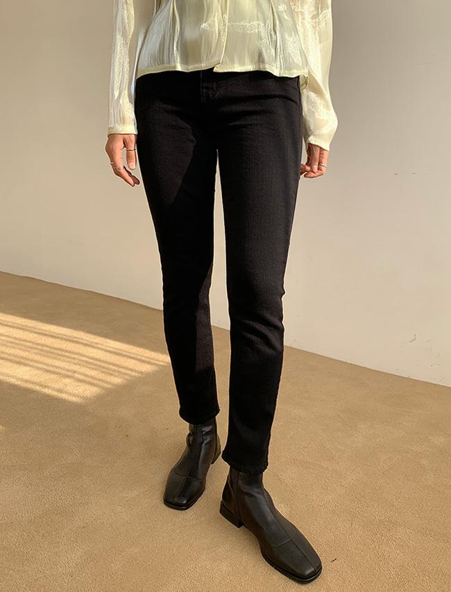 DARKVICTORY女神曲線內刷毛直筒牛仔褲