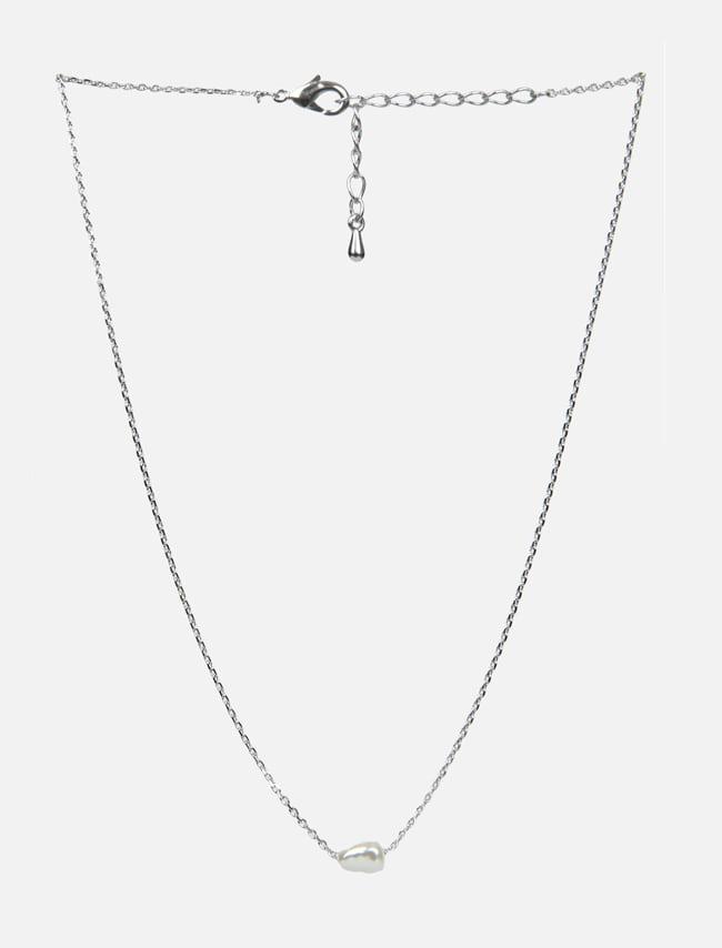 DARKVICTORY仿珍珠質感綴飾金屬項鍊