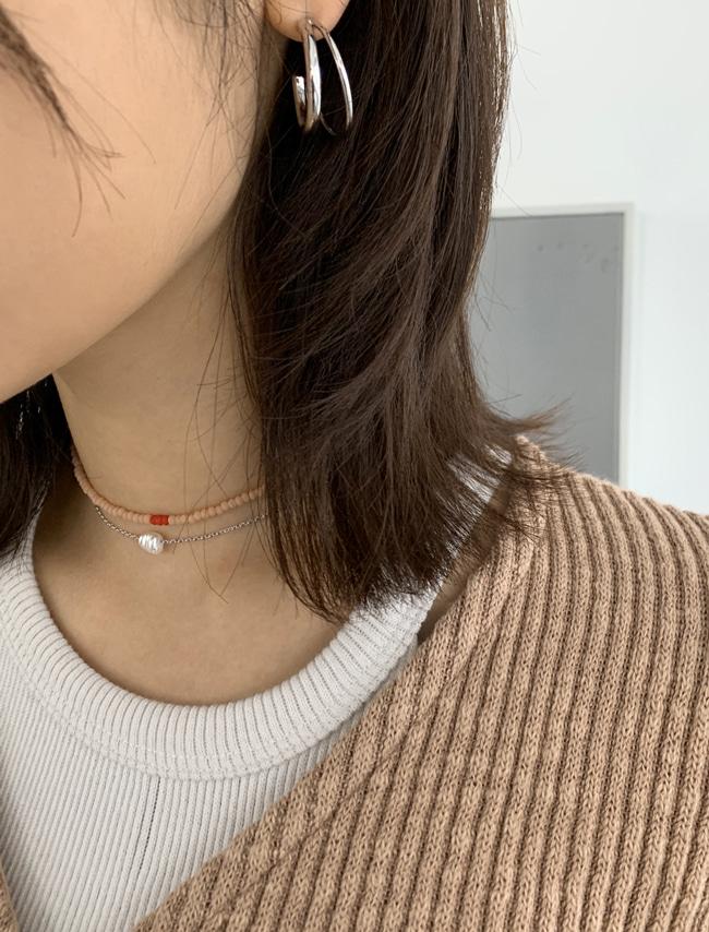 DARKVICTORY獨特配色感玻璃珠項鍊