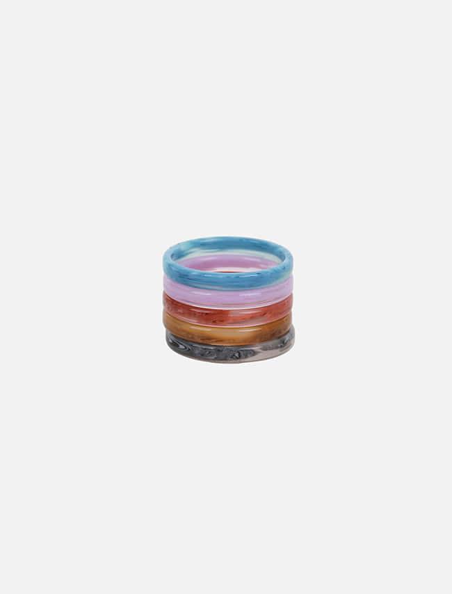 DARKVICTORY[套裝]柔彩多色五入戒指組