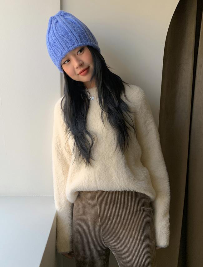 DARKVICTORY知性單色混羊毛針織帽