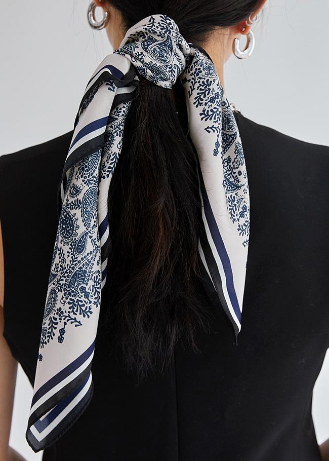 DARKVICTORY時尚輕奢風佩斯利印花領巾