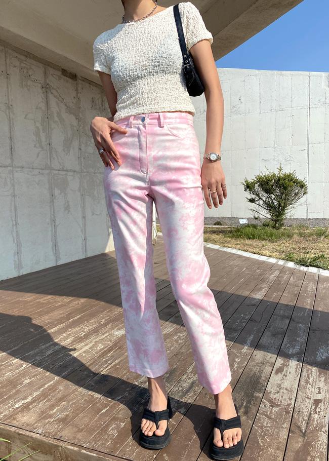 DARKVICTORY少女色調渲色高腰直筒長褲