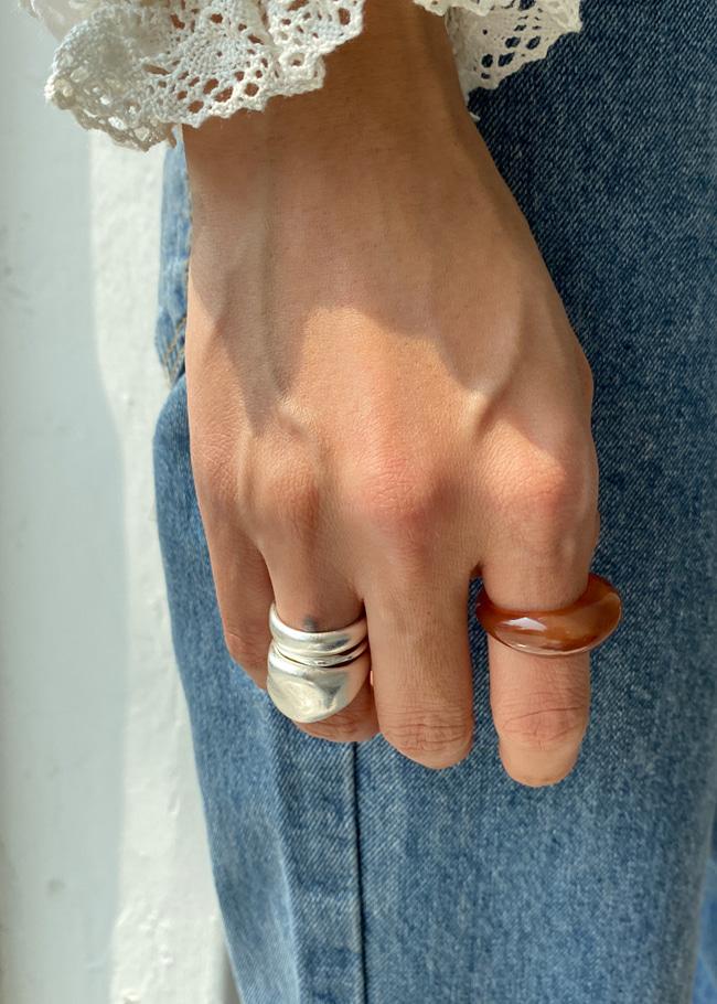 DARKVICTORY[套裝]日常百搭款三入戒指組